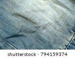 old wrinkled denim | Shutterstock . vector #794159374