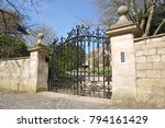 view of an ornate gated... | Shutterstock . vector #794161429