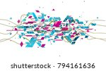 digital cloud formed by... | Shutterstock . vector #794161636