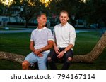 father and son outdoor... | Shutterstock . vector #794167114
