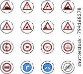 line vector icon set   climb... | Shutterstock .eps vector #794168278