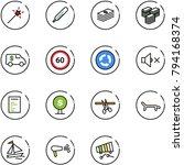 line vector icon set   magic... | Shutterstock .eps vector #794168374