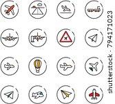 line vector icon set   plane...   Shutterstock .eps vector #794171023