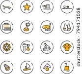 line vector icon set   lounger... | Shutterstock .eps vector #794171038
