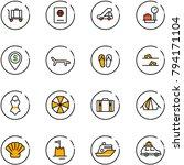 line vector icon set   baggage... | Shutterstock .eps vector #794171104