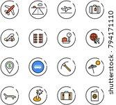 line vector icon set   plane... | Shutterstock .eps vector #794171110