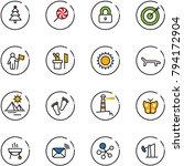 line vector icon set  ... | Shutterstock .eps vector #794172904