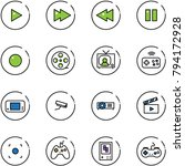 line vector icon set   play... | Shutterstock .eps vector #794172928