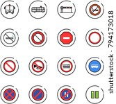 line vector icon set   airport... | Shutterstock .eps vector #794173018