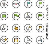 line vector icon set   traffic... | Shutterstock .eps vector #794173078