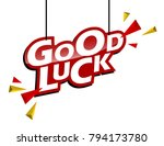 red and yellow tag good luck | Shutterstock .eps vector #794173780