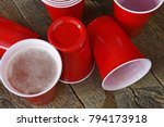 Spilled Red Plastic Cup
