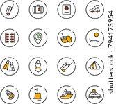 line vector icon set   suitcase ... | Shutterstock .eps vector #794173954