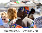 road to st. louis  senegal  ... | Shutterstock . vector #794181970