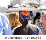 road to st. louis  senegal  ... | Shutterstock . vector #794181988