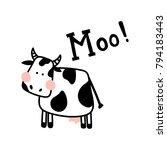 vector illustration of a cute... | Shutterstock .eps vector #794183443