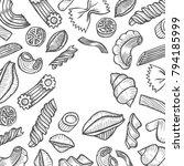 organic italian pasta vector... | Shutterstock .eps vector #794185999