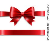 red ribbon bow  | Shutterstock . vector #794190190