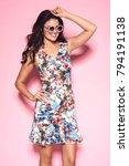 fashionable beautiful woman in... | Shutterstock . vector #794191138