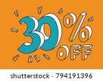 30   off. turquoise thirty... | Shutterstock .eps vector #794191396