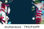 abstract background with... | Shutterstock . vector #794191699