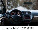 car interior front dashboard | Shutterstock . vector #794192038