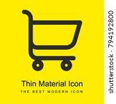shopping cart bright yellow...