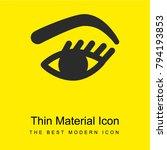 eye bright yellow material...