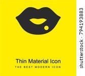 lips bright yellow material...