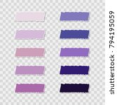 post note sticker set isolated... | Shutterstock .eps vector #794195059