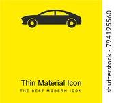 sport car bright yellow...