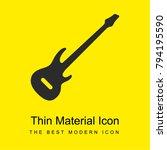 bass guitar bright yellow...