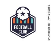 soccer or football club logo or ... | Shutterstock .eps vector #794196058