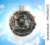 Little Planet Panoramic Aerial View - Fine Art prints