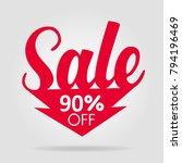 sale sticker red arrow | Shutterstock .eps vector #794196469