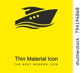 yatch bright yellow material... | Shutterstock .eps vector #794196868