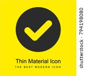 tick bright yellow material...