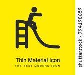 slide bright yellow material...