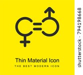 gender equality bright yellow...