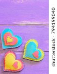 colorful valentines day decor.... | Shutterstock . vector #794199040