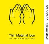 dua hands bright yellow... | Shutterstock .eps vector #794200129