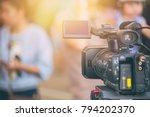 video camera  field working... | Shutterstock . vector #794202370