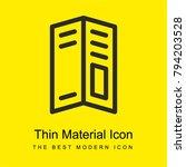 big brochure bright yellow...