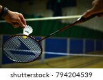 Playing Badminton On A...