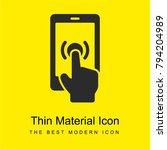 phone with hand bright yellow...