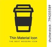 take away coffee bright yellow...