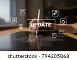 update on virtual screen.... | Shutterstock . vector #794205868