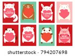 be my valentine. valentine's... | Shutterstock .eps vector #794207698