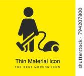 vacuum cleaning bright yellow...