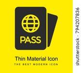 passport card bright yellow...